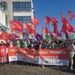 Sindicatos gallegos se concentran para reclamar más estabilidad en AP